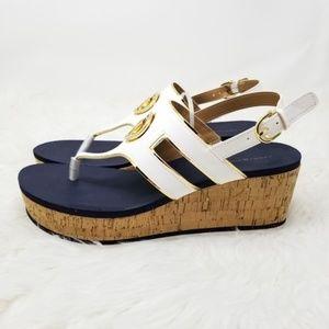 NWT Tommy Hilfiger Twgelia Wedge Sandals Blue 8.5